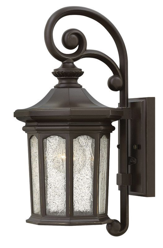 Hinkley Lighting 1600oz Oil Rubbed Bronze 1 Light Outdoor Lantern Wall Sconce From The Raley Collection