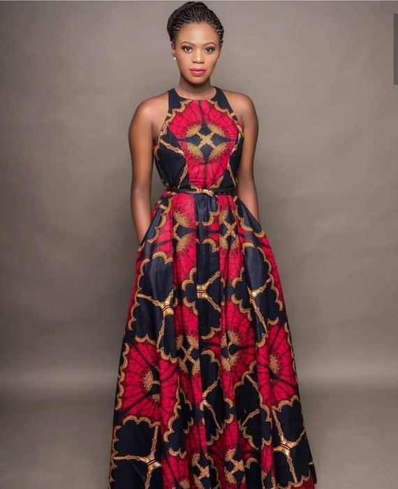 21ebc83eef8e4 Kara African maxi dress, Ankara dress, maxi dress, sleeveless dress,  women's clothing