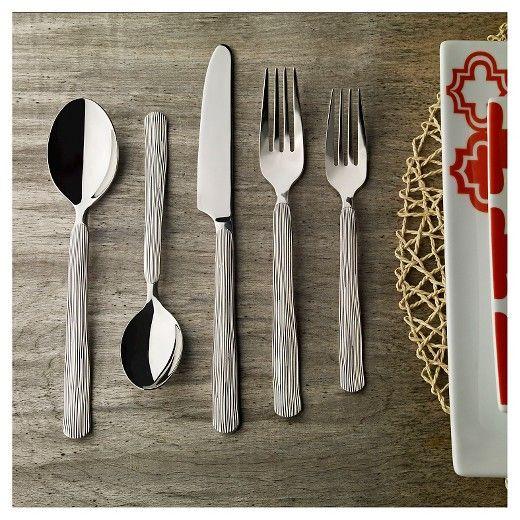Hampton Forge Birch Mirror 20pc. Flatware Set, Silver | Birch and ...