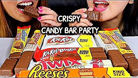Photo of ASMR CHOCOLATE CANDY BAR PARTY (KITKAT, REESE'S) Chocola…