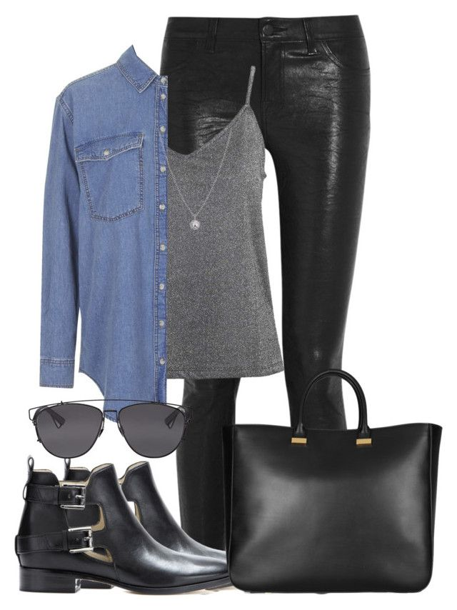 """""""Sem título #412"""" by cecebay ❤ liked on Polyvore featuring J Brand, Topshop, Finn, MICHAEL Michael Kors, Christian Dior and The Row"""