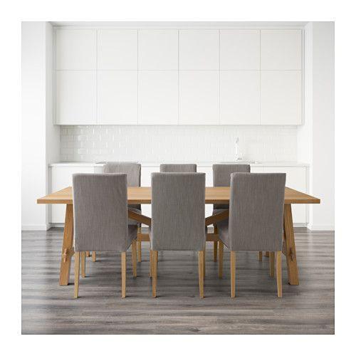 MÖCKELBY / HENRIKSDAL Bord og 6 stoler  - IKEA