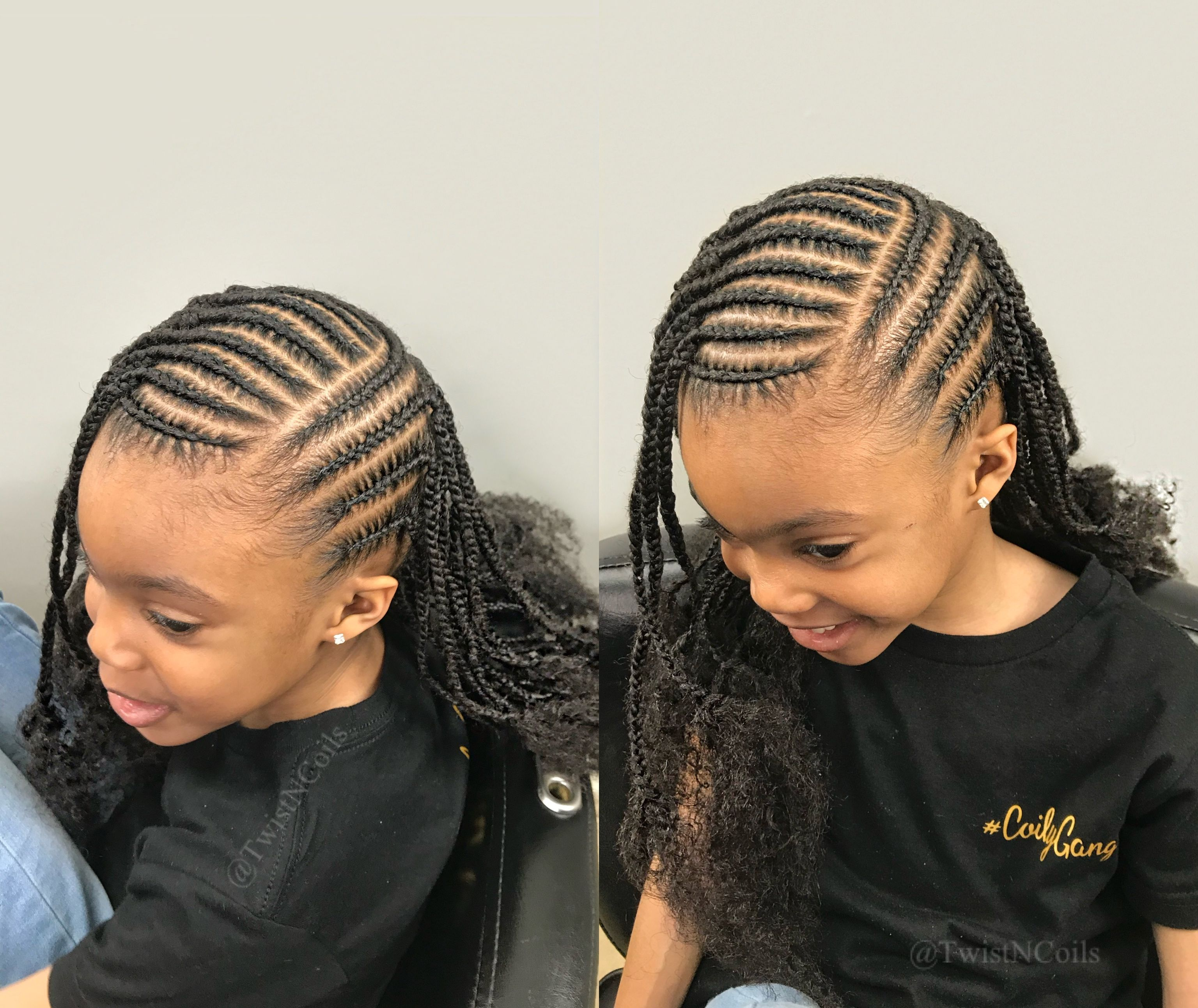 C O I L Y G A N G K I D Z In 2020 Kids Cornrow Hairstyles Feed In Braids Hairstyles Cornrows For Girls