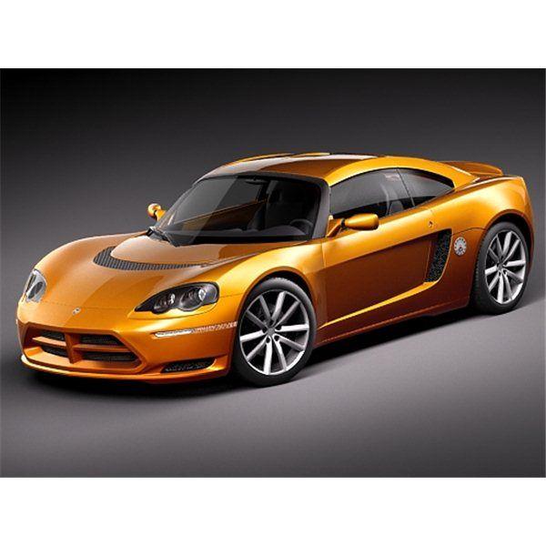 Dodge Circuit EV Sports Car D Model High Quality D Models - Model sports cars
