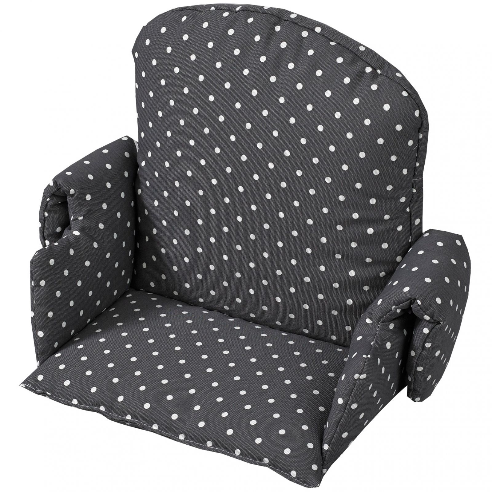 Coussin Dassise Tissus Pour Chaise Haute Gris Pois Geuther