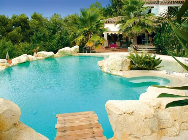 d cor rocher pour abords de la piscine piscines de r ve dreamy swimming pools pinterest