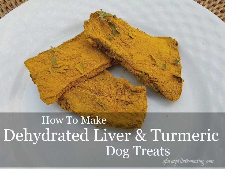 Dehydrated Liver And Turmeric Natural Dog Treats Recipe Liver