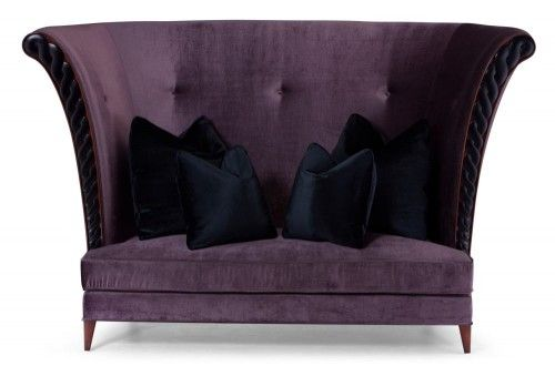 This Distinctive Sofa Has Beautiful, Hand Carved Mahogany Detailing To The  Arms And A