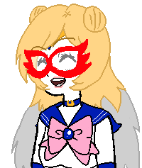 """Oh, hey! I'm the Sailor Moon Fandom, but you can call me whatever! I-I mean, not """"Whatever"""", but.....A-ANYWAYS!! It's nice to meet you!"""