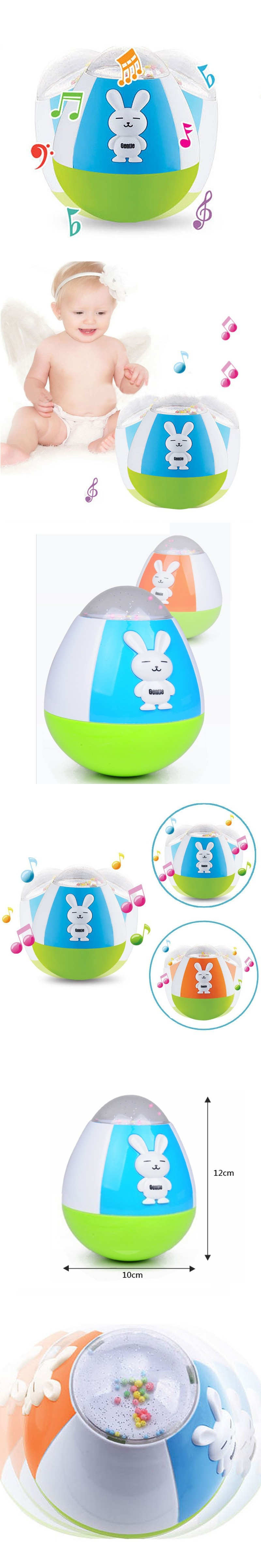 Baby Tumbler Toy Musical Rabbit Doll Nodding Roly Poly Sound