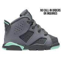Jordan Retro 6 Girls Green Glow | Kids Foot Locker ...