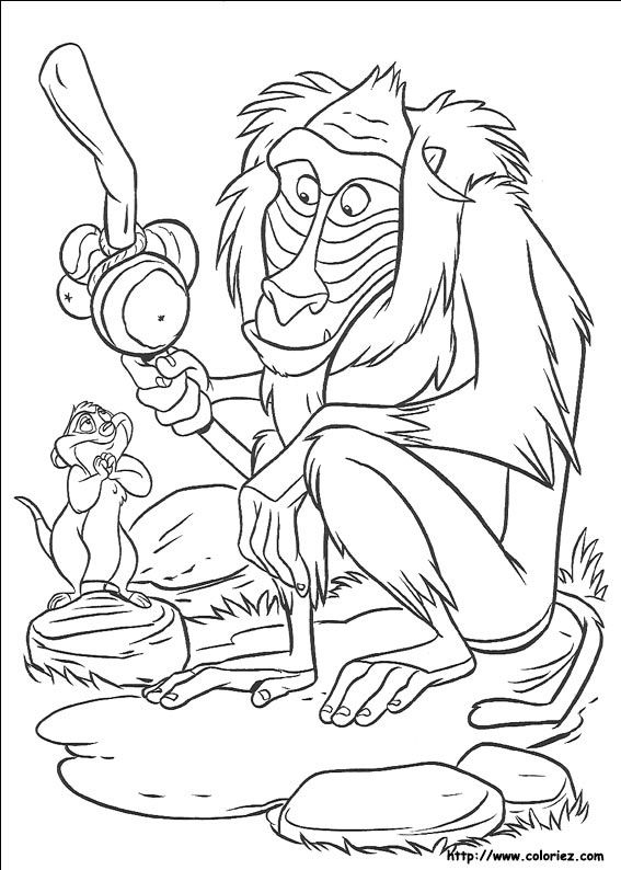 Coloriage Roi Lion Monkey Coloring Pages Cartoon Coloring Pages