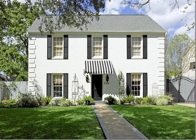 The Facade Is Definition Of Curb Appeal With Its Black And White