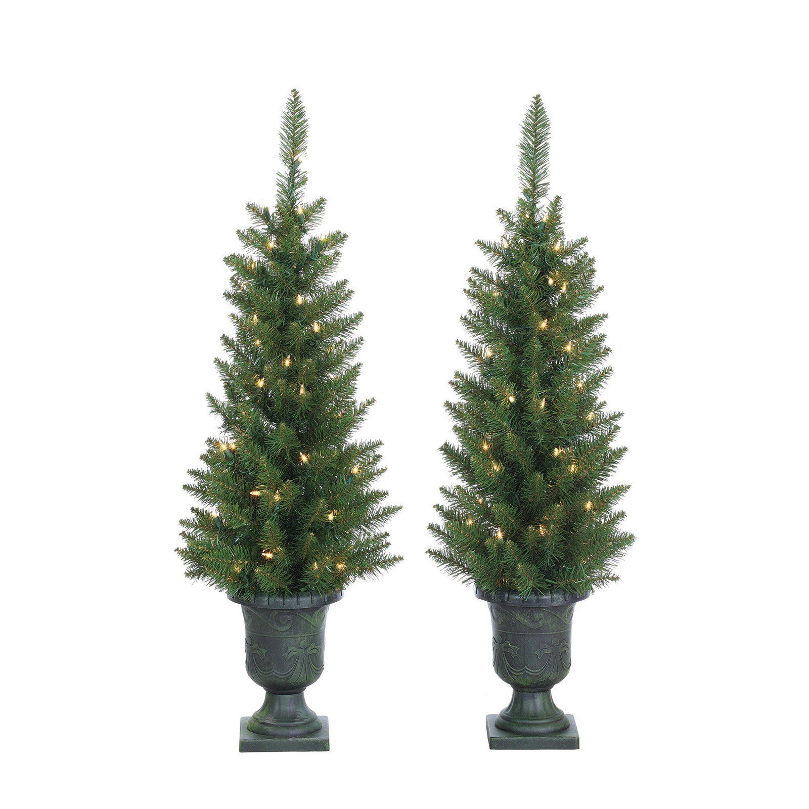 potted norway pine pre lit slim christmas trees by sterling tree company - Sterling Christmas Trees