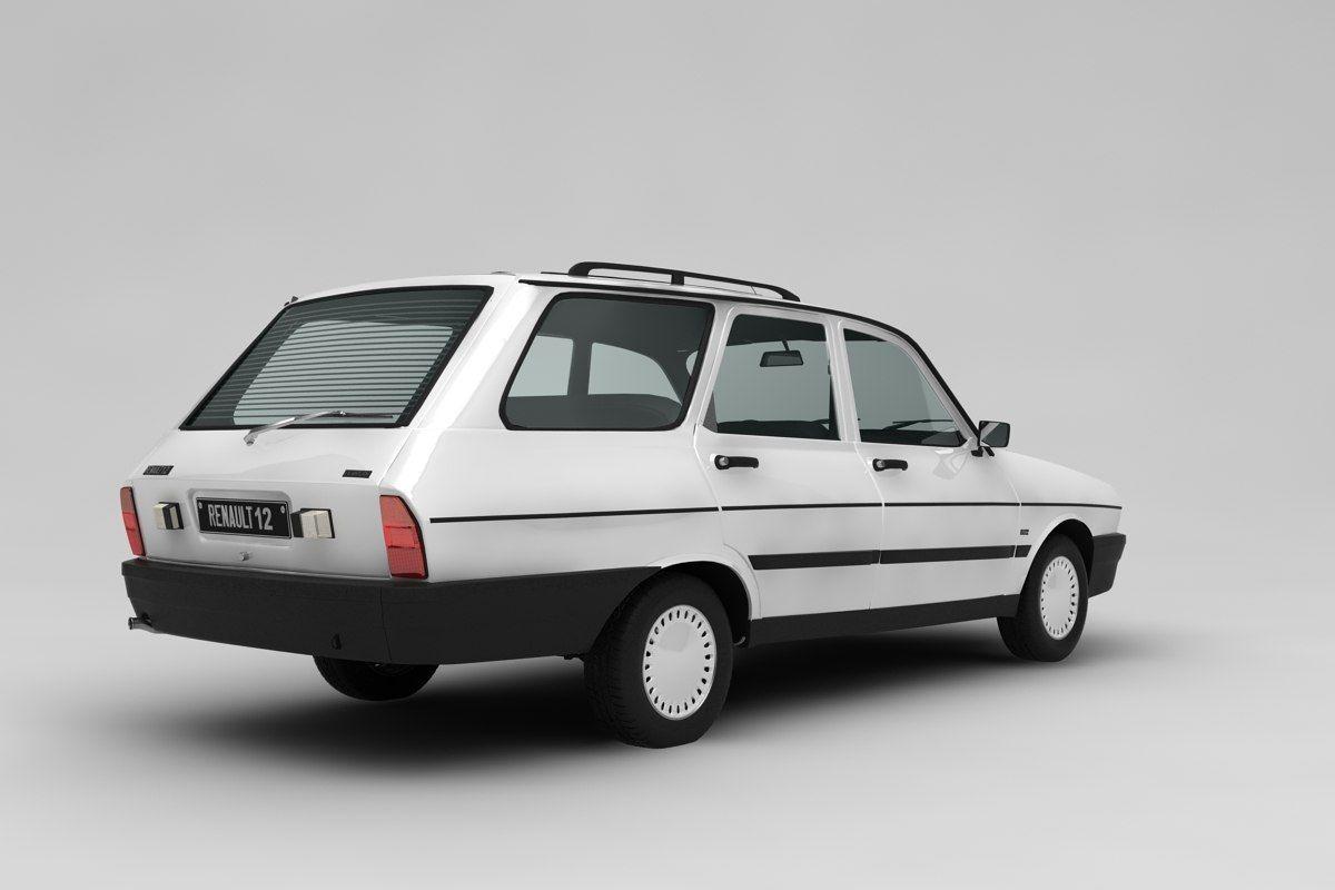 3d Renault 12 Toros Model Arabalar