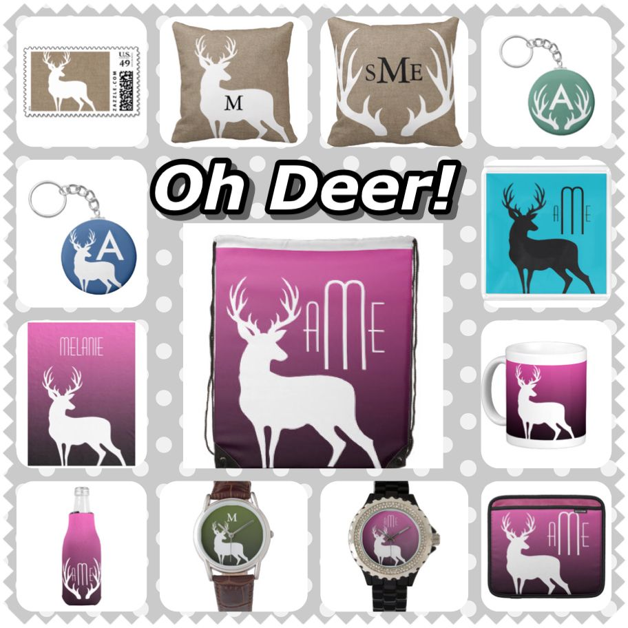 Deer Themed Home Decor Monograms And Gifts