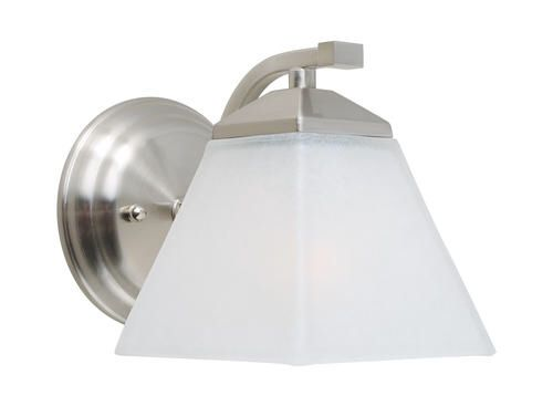 Patriot lighting monarch 1 light satin nickel indoor wall light at menards