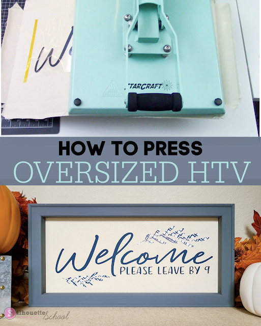 How to Heat Press Large Images or Oversized HTV Transfers