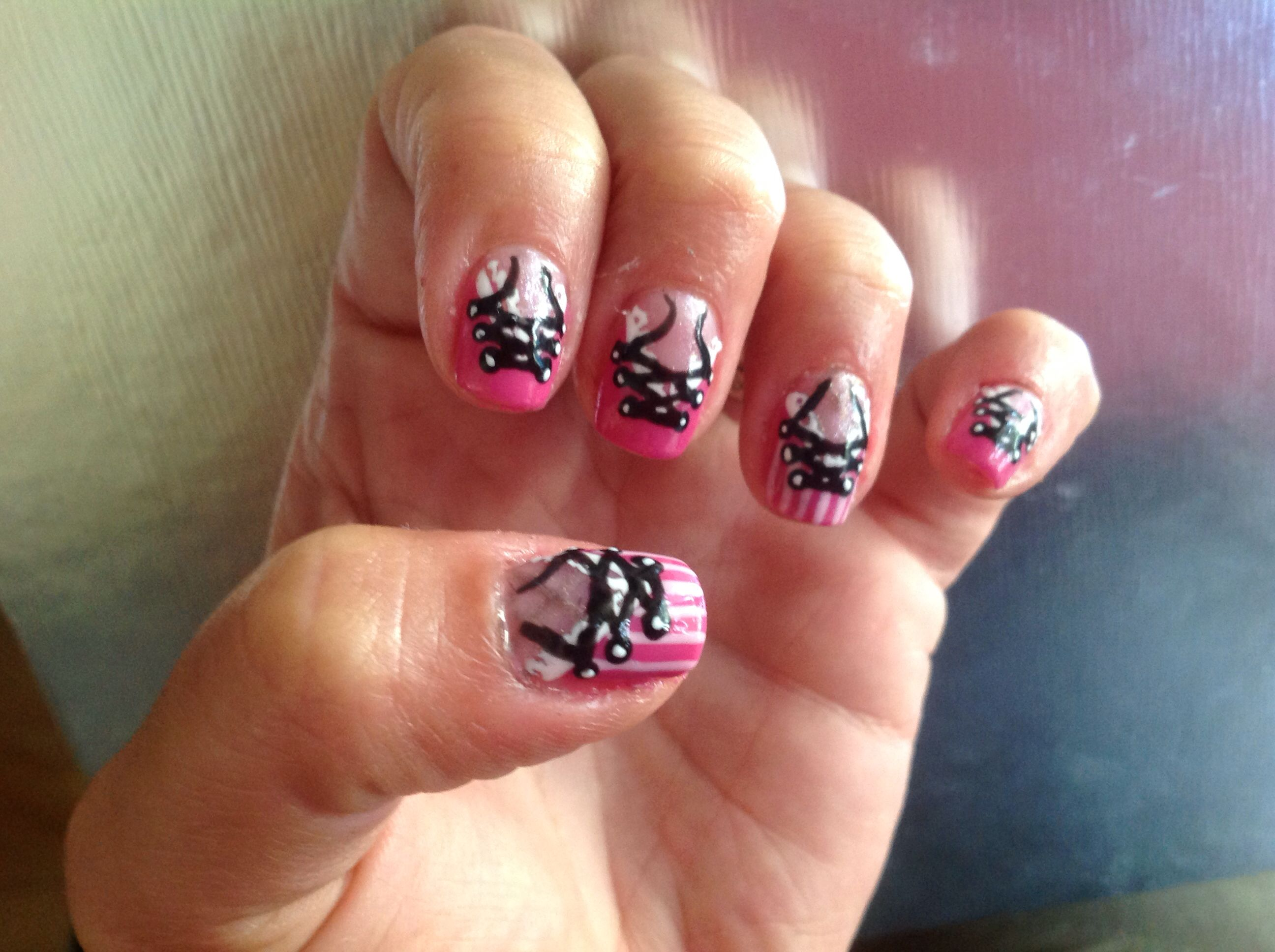 Corset done in uv gel polish & inspired by love4nails | nail art ...