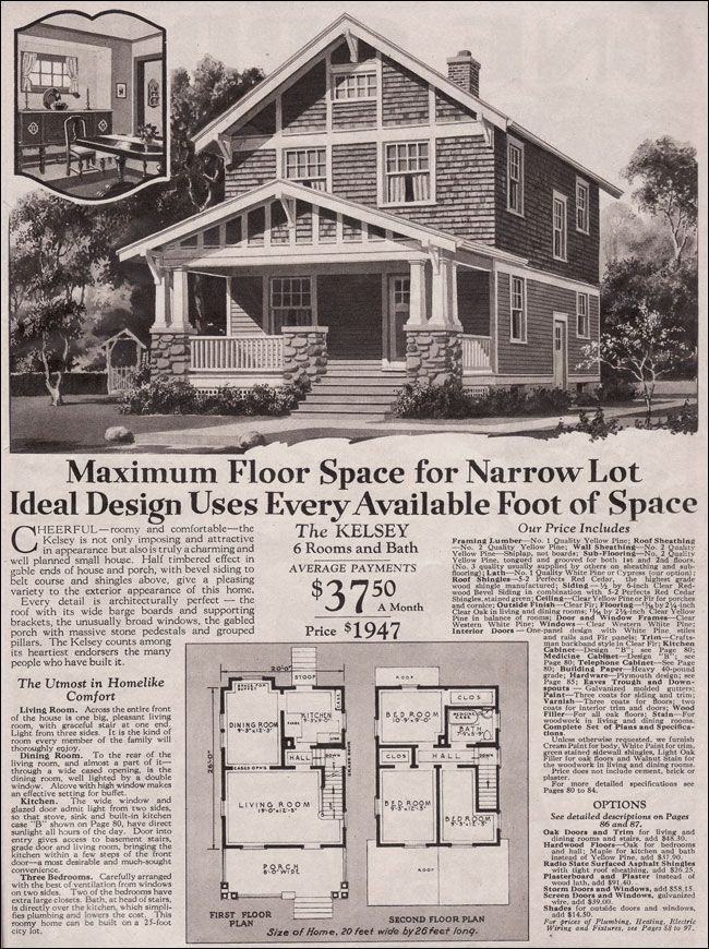 1930 montgomery ward kelsey vintage house plans