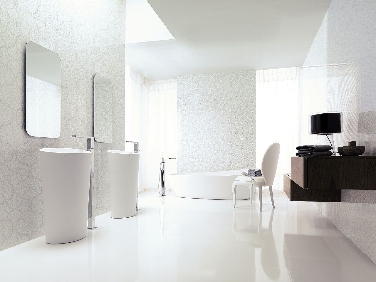 crystal floor white 59 6 x 59 6 cm porcelanosa bianco. Black Bedroom Furniture Sets. Home Design Ideas