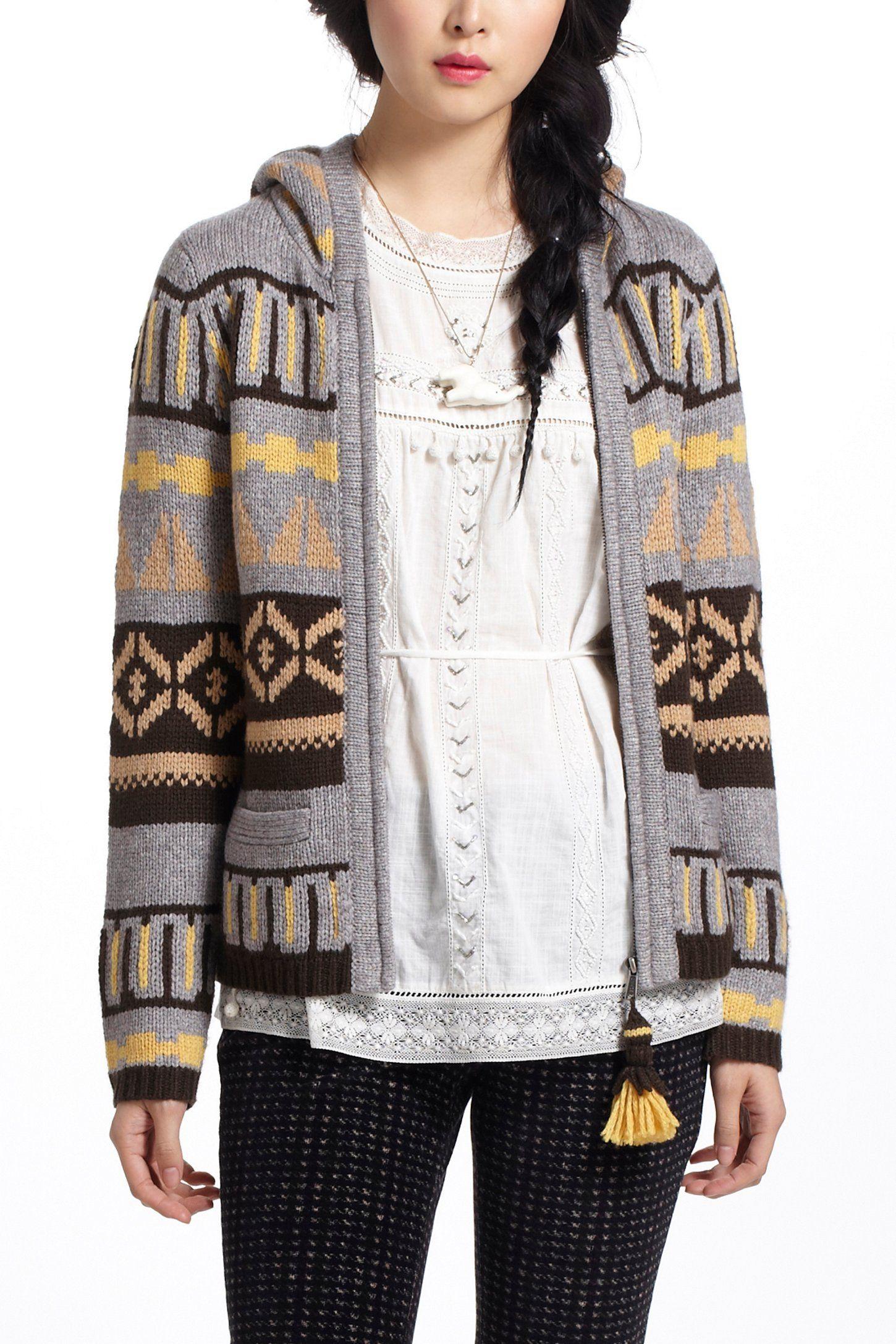 Fairisle Hooded Sweater - Anthropologie.com | Yes, please ...
