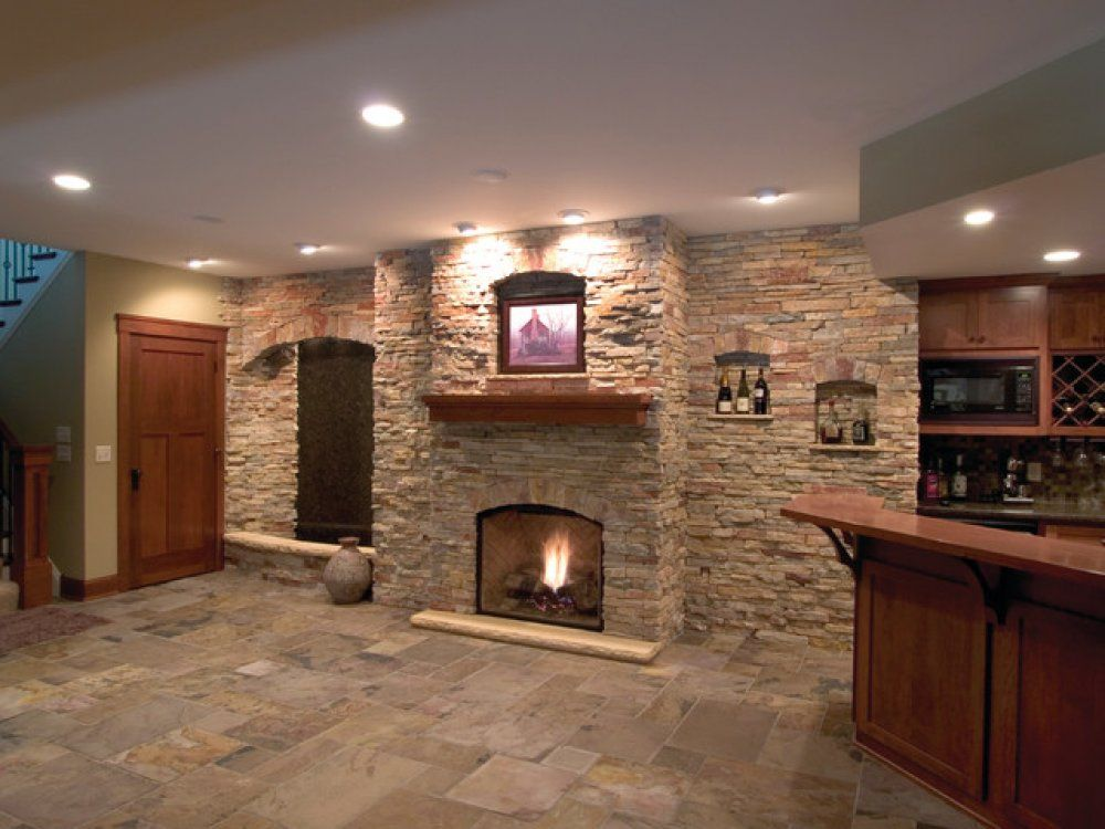 Images Of Basements With Stone Walls This Modern