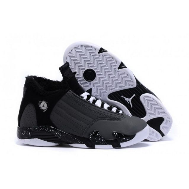 separation shoes a976d 9e2c4 Women Nike Air Jordan 14 Retro With Velvet Grey Black