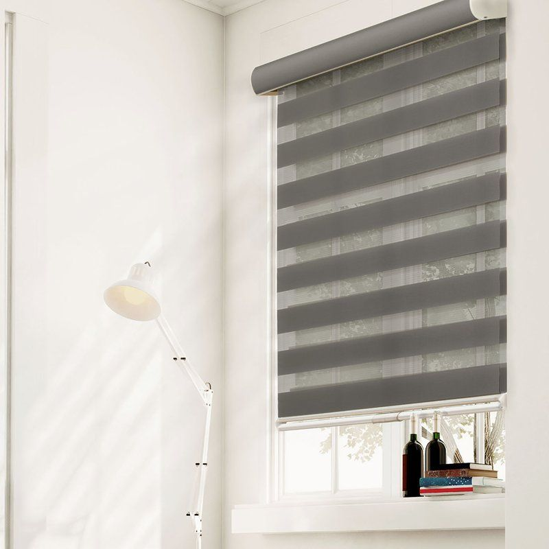 Cherie Zebra Semi Sheer Roller Shade Sheer Roller Shades Curtains With Blinds Zebra Shades