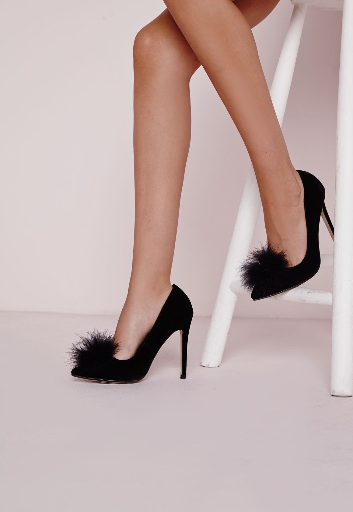 1ad0e8259 Missguided - Feather Vamp Court Shoe