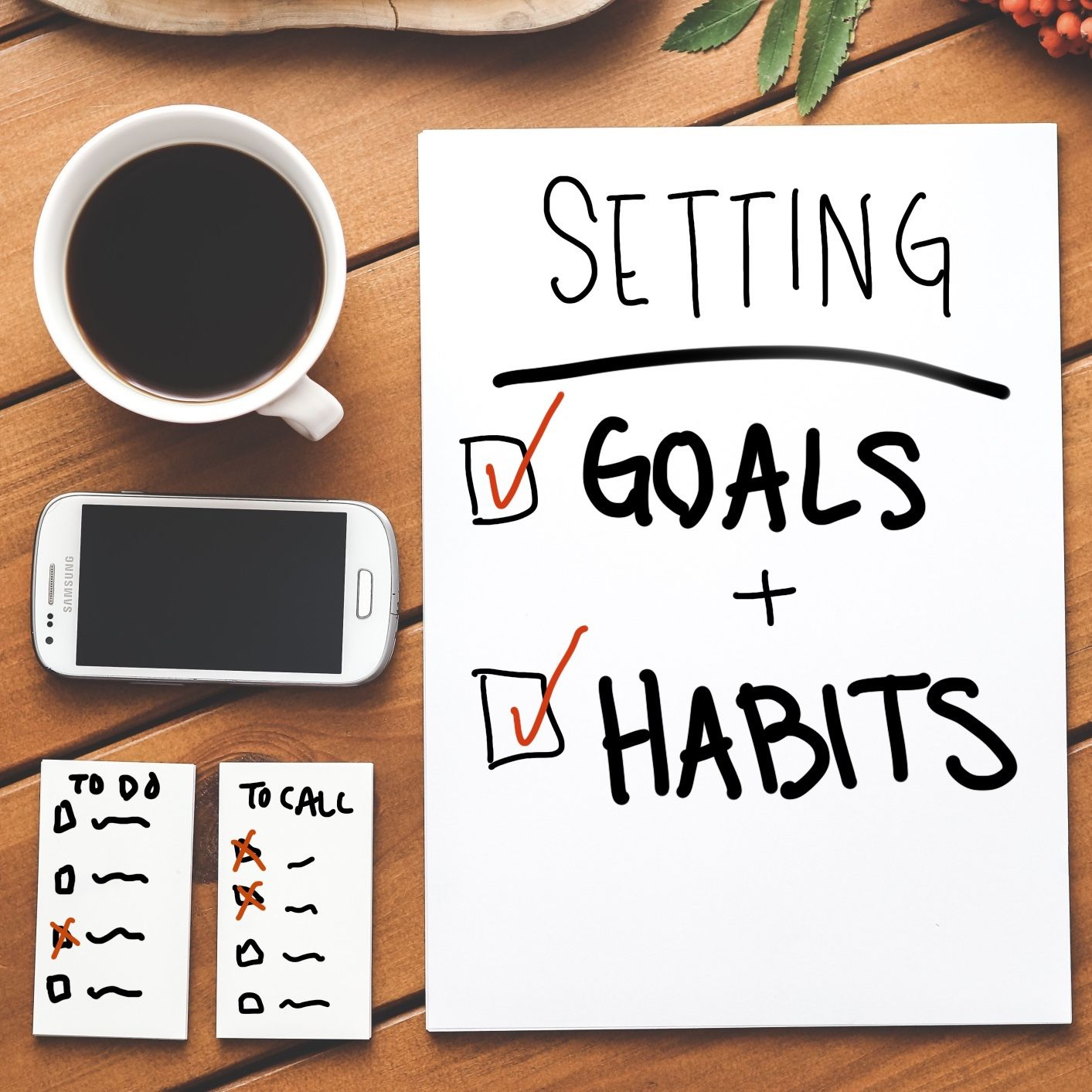 Setting Goals And Habits Printable With Images