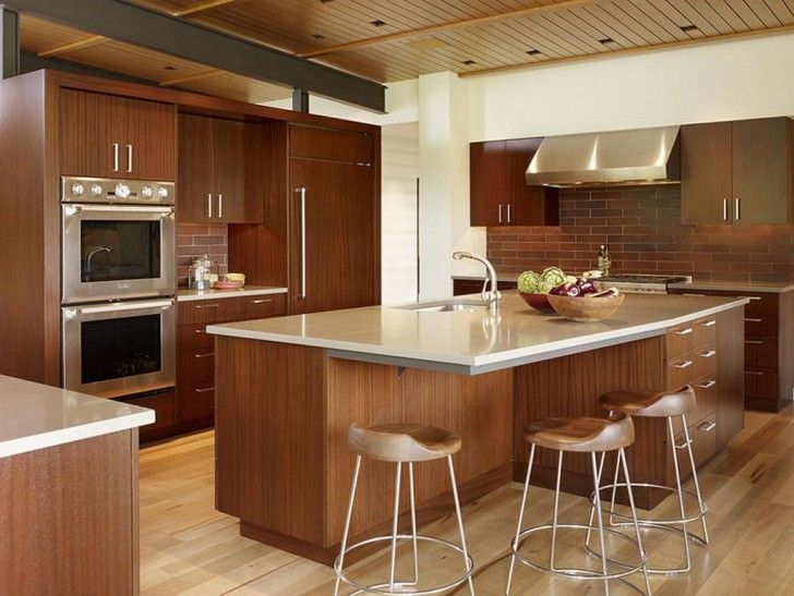 Design Your Own Kitchen Island › Natural Wooden Kitchen Island And Pleasing Kitchen Design Your Own 2018
