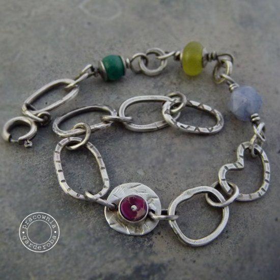 Spring, jaspis... - bransoletka (sprzedawca: pracownia garderoba), do kupienia w DecoBazaar.com