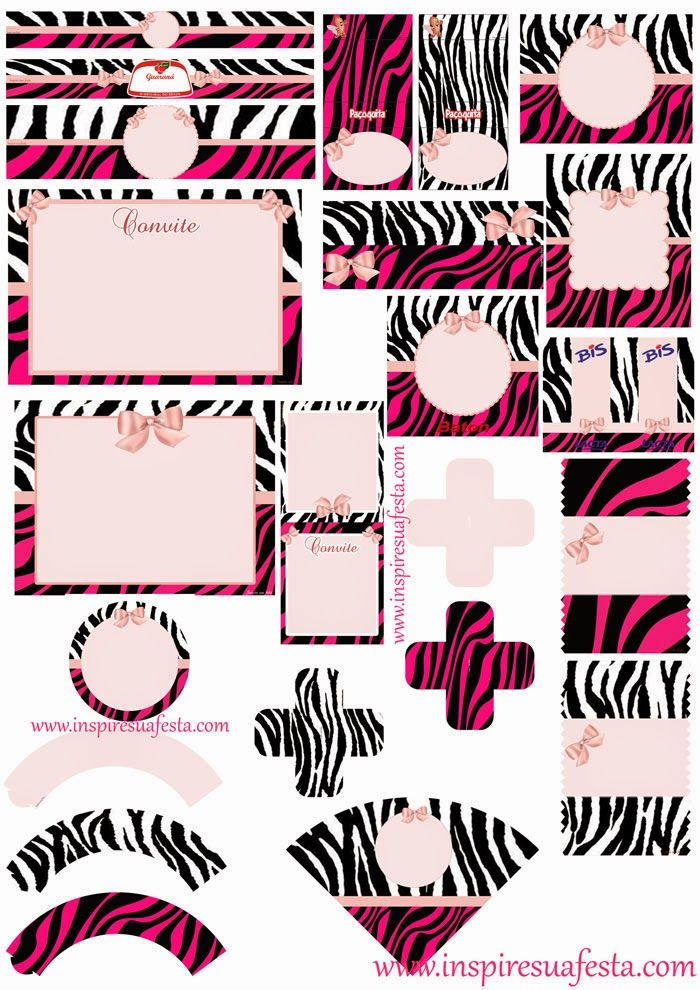 Zebra and Pink Free Printable Kit paper, stationery and ideas - fresh zebra invitation template free
