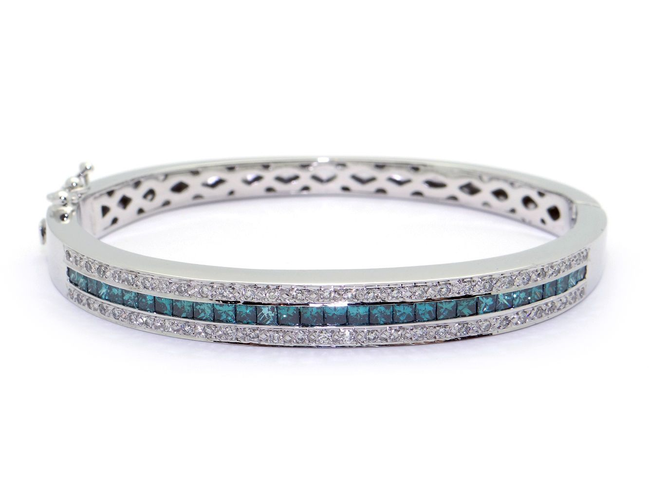 diamond bangle white p gold bangles blue bracelet rose