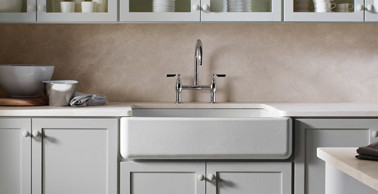 21 American Style Kitchens Apron Front Sink Kitchen Trends