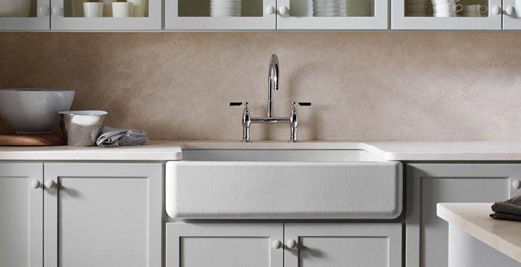 KOHLER | Apron Front Sinks: Beyond The Farmhouse | Kitchen Trends | Kitchen  Ideas