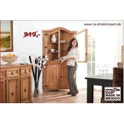 Photo of Mexico corner showcase corner cabinet, pine honey colored 1a direct import