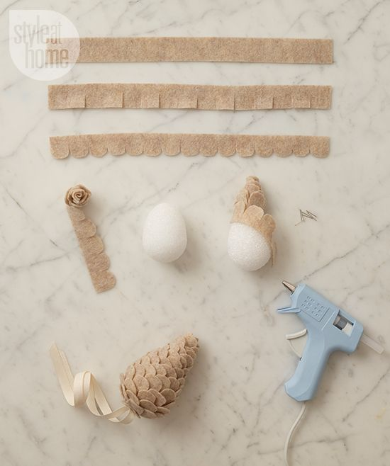 DIY project: Felt pinecones | Style at Home