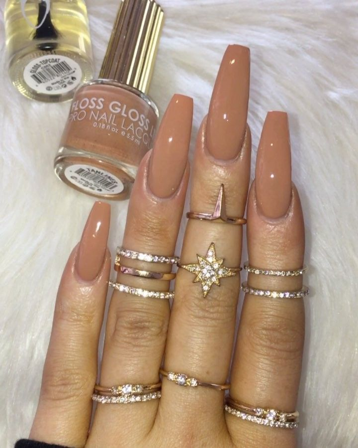 1 848 Likes 8 Comments Victoria Victoriaoliviaxo On Instagram Tanlines From Flossglo Brown Acrylic Nails Plain Acrylic Nails Fall Acrylic Nails