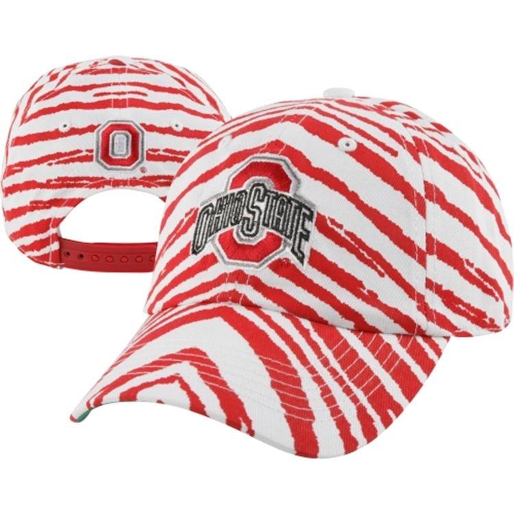 Ohio State Buckeyes Scarlet Zubaz Smash Adjustable Hat