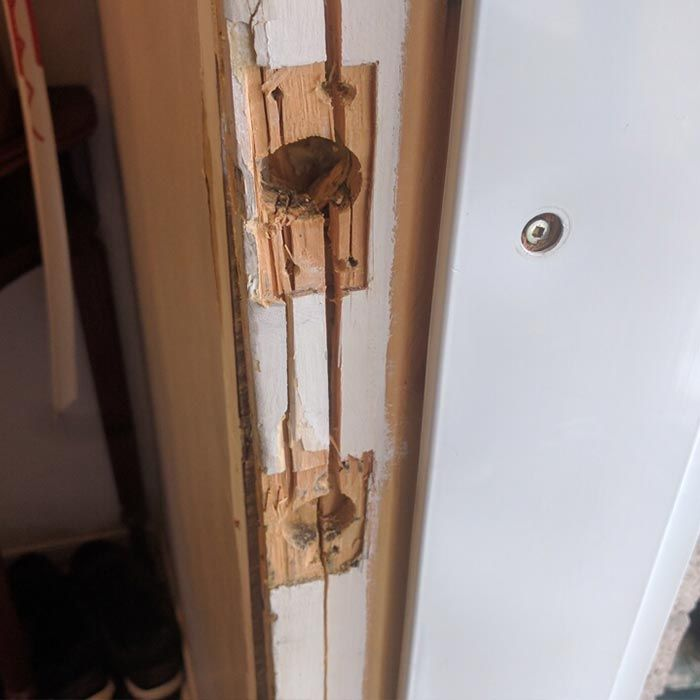 We Have Fixed A Broken Kicked In Residential Door Frame West Vancouver Bc