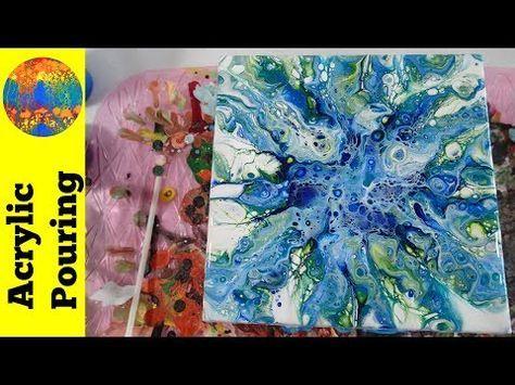 Just Blowin The Blues Acrylicpouring Com Peinture Acrylique