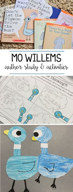 We Love Pigeon! Mo Willems Author Study | Education | Pinterest ...