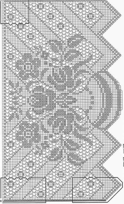 Gardine_Blumenvase | Häkeln / crochet / crocheté_Gardinen und ...