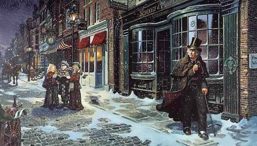 "Compelling ""A Christmas Carol"" Christmas Card"
