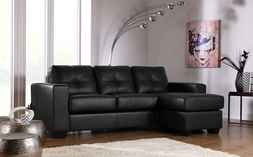 Black leather sofa sale; get your dream affordable leather ...