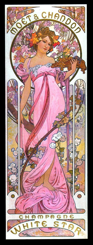 Alphonse Mucha Mucha art, Art nouveau mucha, Art nouveau