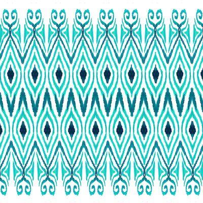 Ikat Jade Art Print by Amy Sia