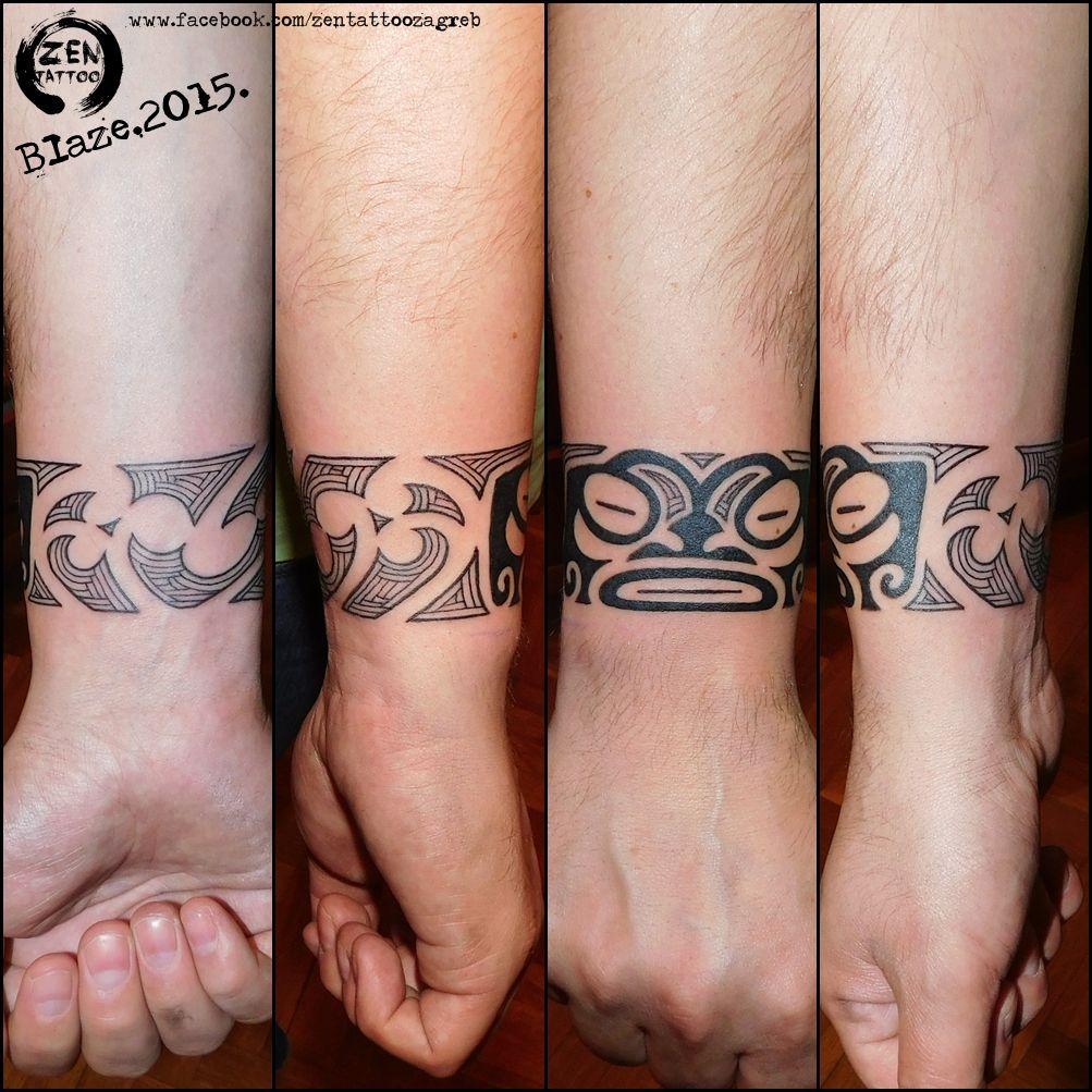 Maori bracelet tattoo by blaze facebookzentattoozagreb